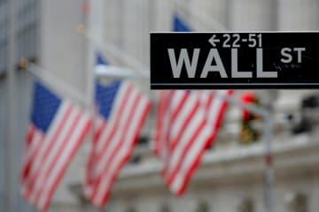 ニューヨークのウォール街(ロイター=共同)