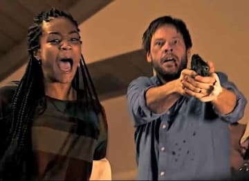 Ike Barinholtz & Tiffany Haddish in 'The Oath'