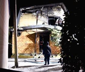 死者が出た昨年1月の建物火災=幌別町