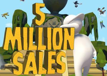 ふにゃふにゃパズルACT『ヒューマン フォール フラット』が500万本セールス達成! 旧正月を祝うセールやスキン追加も