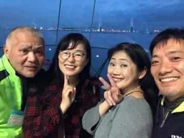 ジェーン「これから帰りまーす!」 なぜか行き会った富士桜麦酒の天通さんも一緒に。