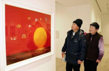 高知県香美市立やなせたかし記念館の特別展に展示された「アンパンマン」の原画=6日午後