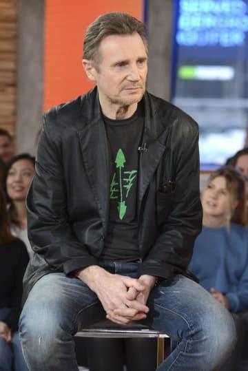 米テレビに出演したリーアム・ニーソンさん=5日、米ニューヨーク(Lorenzo Bevilaqua/ABC提供、AP=共同)