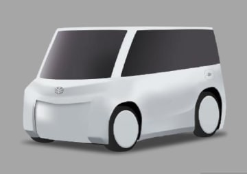 トヨタ自動車が開発する小型の移動サービス専用車「MaaS EV」のイメージ