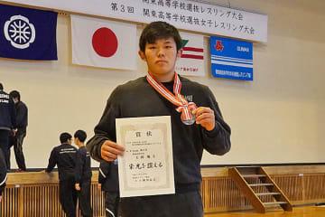 地元の大会で銀メダルを獲得した玉岡颯斗(群馬・館林2年)