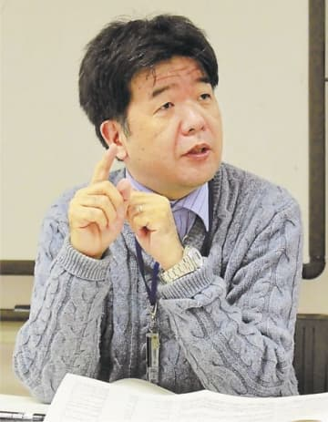 「安全対策に万全を期す」と話す道園氏=1月23日、茨城県つくば市の高エネルギー加速器研究機構