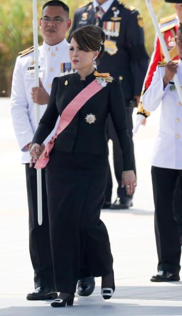 王宮での儀式に参列するタイのウボンラット王女=2017年10月、バンコク(ロイター=共同)