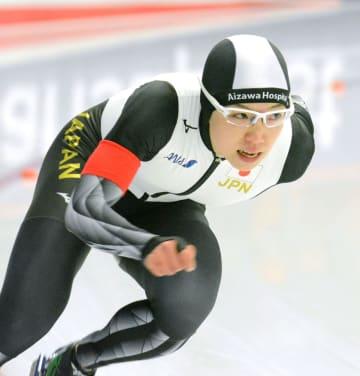 女子500メートルで2位だった小平奈緒=インツェル(共同)