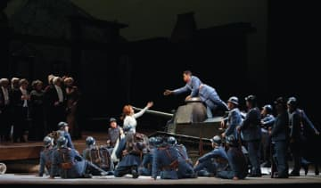 "A scene from Donizetti's ""La Fille du Régiment."" Photo: Marty Sohl / Met Opera"