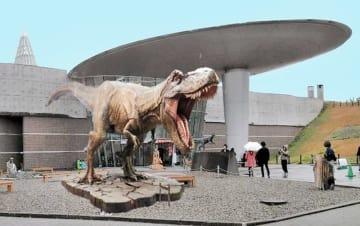 ティラノサウルスのモニュメントの設置イメージ(福井県提供)