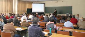 参加者が民族の定義を考えた講話(提供写真)