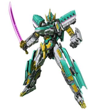 アニメ「新幹線変形ロボ シンカリオン」に登場するシンカリオン E5はやぶさ MkII(C)プロジェクト シンカリオン・JR-HECWK/超進化研究所・TBS