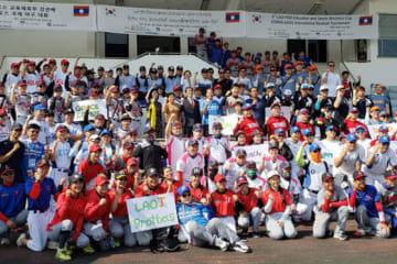 世界5か国から集まったチームが参加した「韓国・ラオス野球大会」【写真:豊川遼】