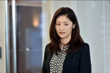 連続ドラマ「グッドワイフ」で主人公の女弁護士を演じる常盤貴子さん=TBS提供