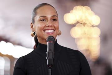 第61回グラミー賞の司会を務める歌手アリシア・キーズさん=7日、ロサンゼルス(AP=共同)