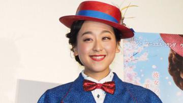 ディズニー最新作「メリー・ポピンズ リターンズ」の前夜祭イベントに登場した浅田真央さん