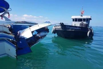 ボートがタイ·プーケット海域で衝突 中国人11人けが