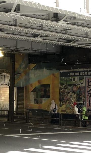 11日(月)午前8時半前 場所 台東区 撮影:高橋和也