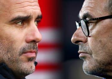 欧州サッカーを牽引してきたグアルディオラ(左)とサッリ(右)photo/Getty Images