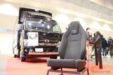 大阪オートメッセでトラック用のレカロシート紹介される。