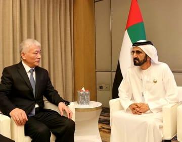 習近平主席特使、UAE副大統領兼首相と会見 技術革新協力を強調