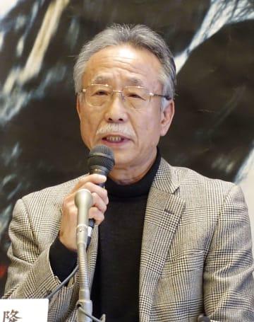 「植村直己冒険賞」に選ばれ、記者会見する岡村隆さん=12日午後、東京都内