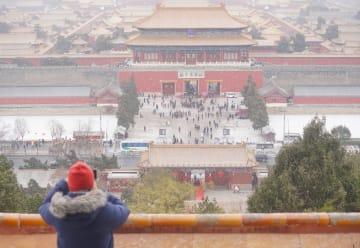 北京で積雪 美しい白銀の世界に変身