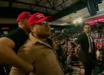 Trump supporter attacks BBC cameraman at El Paso Texas rally in 2019
