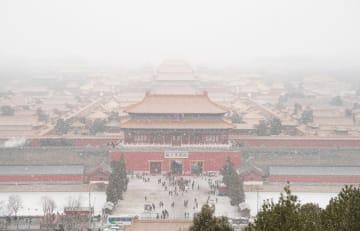 故宮博物院も雪化粧 北京で降雪