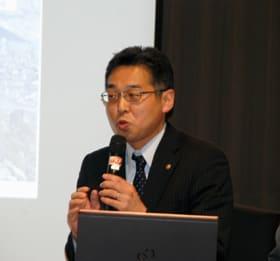 室蘭市の取り組みを語る東平副市長