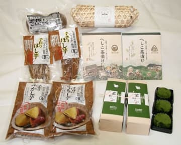 中丹いち推し商品に選ばれた地元の農産物などを使った加工品(府中丹広域振興局提供)