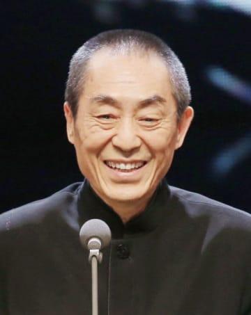 中国の張芸謀監督(中央通信社=共同)