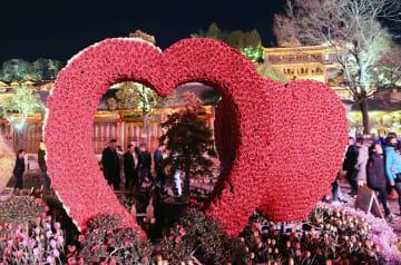 色鮮やかな麗江古城の夜景 雲南省