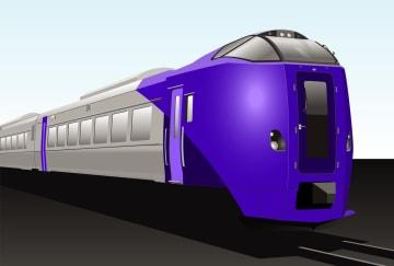 JR北海道が新たに投入する「ラベンダー」をイメージした特急車両の想像図(同社提供)
