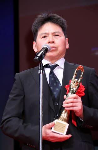 「第73回毎日映画コンクール」の表彰式に出席した高坂希太郎監督