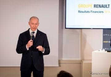 決算を発表するルノーグループのティエリー・ボロレ新CEO