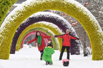 フフホト市が雪化粧