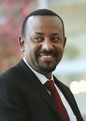 エチオピアのアビー首相(ゲッティ=共同)