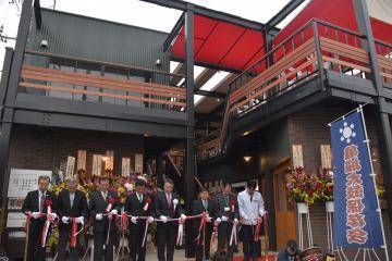 開業した飲食店などの複合施設「つちうら横丁」=土浦市桜町