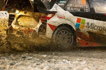 WRC:トヨタ、スウェーデン2日目はラトバラに不運。「タイヤが充分にグリップせず」