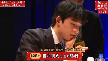 藤井聡太七段、朝日杯連覇に「落ち着いて指せた」強豪4棋士に全部後手番で快挙達成