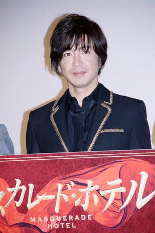 映画「マスカレード・ホテル」の大ヒット御礼舞台あいさつに登場した木村拓哉さん