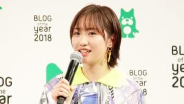 「BLOG of the year 2018」の優秀賞を受賞し授賞式に出席した工藤遥さん