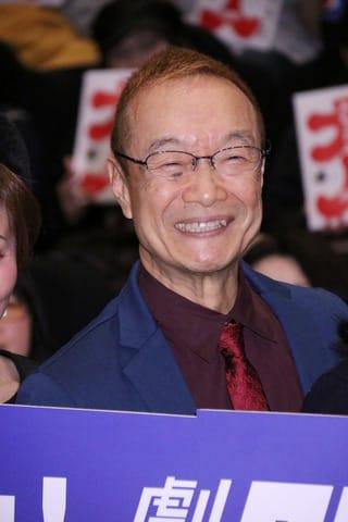 「劇場版シティーハンター <新宿プライベート・アイズ>」の大ヒット御礼舞台あいさつに登場した神谷明さん