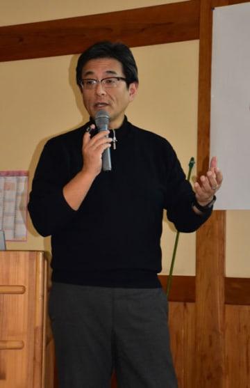 専門家の観点から地域共生社会について講演した小川教授
