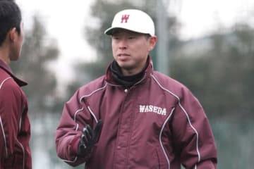 早稲田大野球部のコーチに就任した田中浩康氏【写真:編集部】
