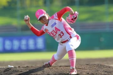 今季から埼玉アストライアでプレーする山口千沙季投手【写真提供:日本女子プロ野球リーグ】