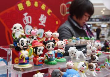 民芸品を集めたイベント開催 山東省青島市