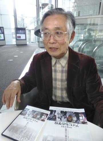 「朝鮮学校の歴史を知ってほしい」と語る高賛侑監督=7日、東京都港区