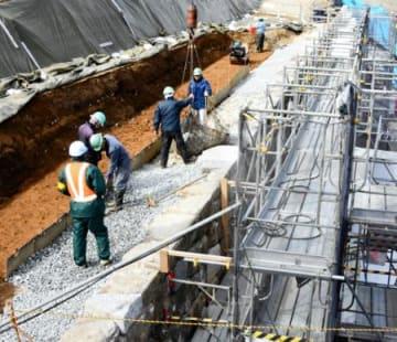 3月中旬に修復完了 小峰城跡(白河)の石垣